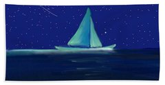 Moonlight Sail Bath Towel