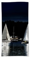 Hand Towel featuring the photograph Moonlight Sailing by David Patterson