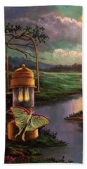 Moonlight, Silhouettes And Shadows Hand Towel
