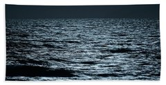 Moonlight Waves Hand Towel by Nancy Landry