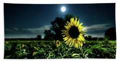 Hand Towel featuring the photograph Moonlighting Sunflower by Everet Regal