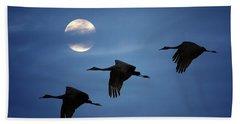 Moonlit Flight Hand Towel