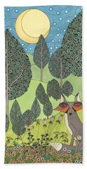 Moonlit Meadow Hand Towel
