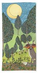 Moonlit Meadow Bath Towel