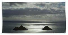 Moonlit Mokulua Islands Hand Towel