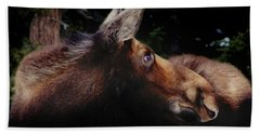 Moonlit Moose Bath Towel