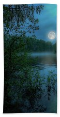 Hand Towel featuring the photograph Moonlit by Rose-Marie Karlsen