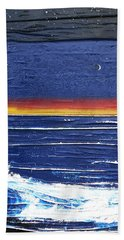 Moonlit Seascape Hand Towel