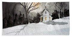 Moonlit Snow Hand Towel