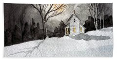 Moonlit Snow Bath Towel