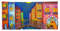 Moonlit Venice Bath Towel