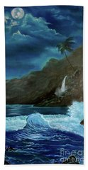 Moonlit Wave Hand Towel