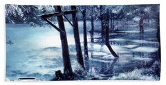 Moonlite On Village Creek Hand Towel
