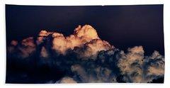 Moonrise In Taos Bath Towel