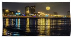 Moonrise Over Biloxi Bath Towel