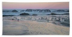 Moonset At Seal Rock Bath Towel