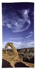 Moonset Delicate Arch Hand Towel