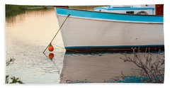 Moored Boat 2 Bath Towel