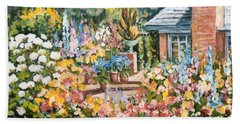 Moore's Garden Hand Towel by Alexandra Maria Ethlyn Cheshire