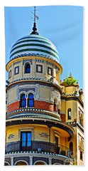 Moorish Tower With Hdr Processing Hand Towel by Mary Machare