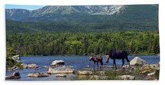 Moose Baxter State Park Maine 2 Hand Towel