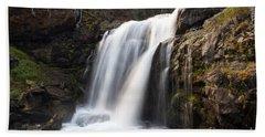 Moose Falls Yellowstone National Park Bath Towel