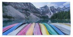 Moraine Lake Colors Hand Towel by Alpha Wanderlust