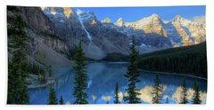 Moraine Lake Sunrise Blue Skies Hand Towel