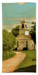 Bath Towel featuring the photograph Moravian Church by Trey Foerster