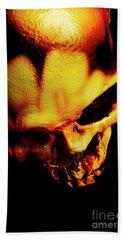 Morbid Decaying Skull Hand Towel