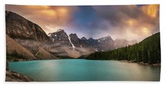 More Rain At Moraine Lake Hand Towel