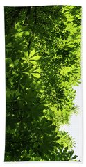 More Than Fifty Shades Of Green - Sunlit Chestnut Leaves Patterns - Vertical Left Two Bath Towel