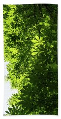 More Than Fifty Shades Of Green - Sunlit Chestnut Leaves Patterns - Vertical Right Two Bath Towel
