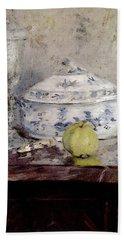 Morisot Berthe Tureen And Apple Hand Towel by Berthe Morisot