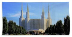 Bath Towel featuring the photograph Mormon Temple Dc by Patti Whitten