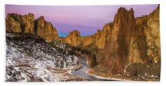 Mornign Colors At Smith Rock State Park Hand Towel