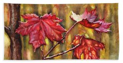 Morning After Autumn Rain Hand Towel