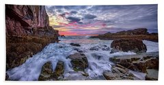 Morning At Bald Head Cliff Bath Towel by Rick Berk