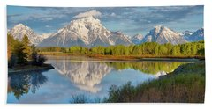 Morning At Oxbow Bend Hand Towel