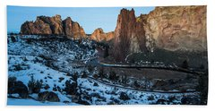 Morning At Smith Rock State Park Hand Towel