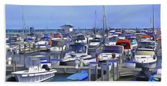 Morning At The Marina 1 Hand Towel