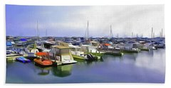 Morning At The Marina 2 Hand Towel