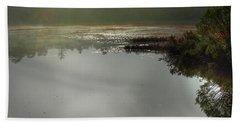 Morning Autumn Mist On Baker Pond Hand Towel by Nancy Griswold