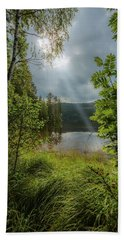 Morning Breath Hand Towel by Rose-Marie Karlsen