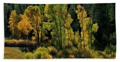 Morning Cottonwoods Bath Towel