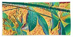 Morning Dew Drops In Puna Hand Towel