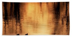 Bath Towel featuring the photograph Morning Ducks 2017 Square by Bill Wakeley