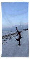 Morning Exercise On The Beach Bath Towel