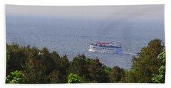 Morning Ferry To Mackinac Island Hand Towel