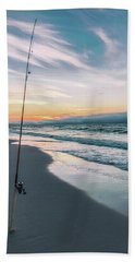 Bath Towel featuring the photograph Morning Fishing At The Beach  by John McGraw